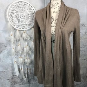 Kensie Tan Open Drape Cardigan Sweater Womens S